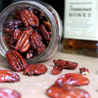 Honey Whiskey Roasted Pecans