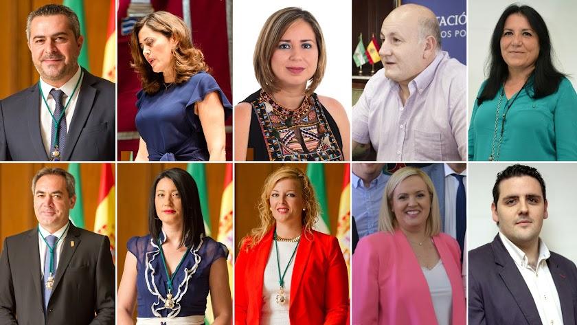 Los 10 diputados propuestos esta tarde por el PSOE.