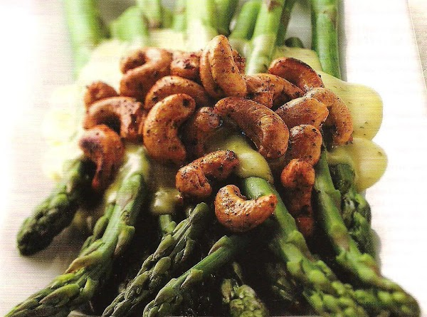 Cashew Topped Asparagus Recipe