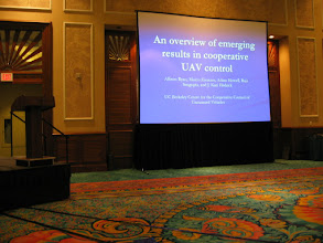Photo: Presenting the first of the two paper that were accepted at the conference.