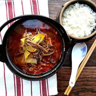Yuk Gae Jang (Spicy Korean Beef Soup).