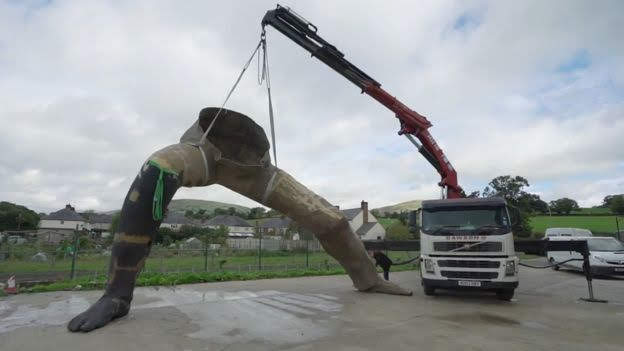 Local hands crafting UK's 'largest sculpture'