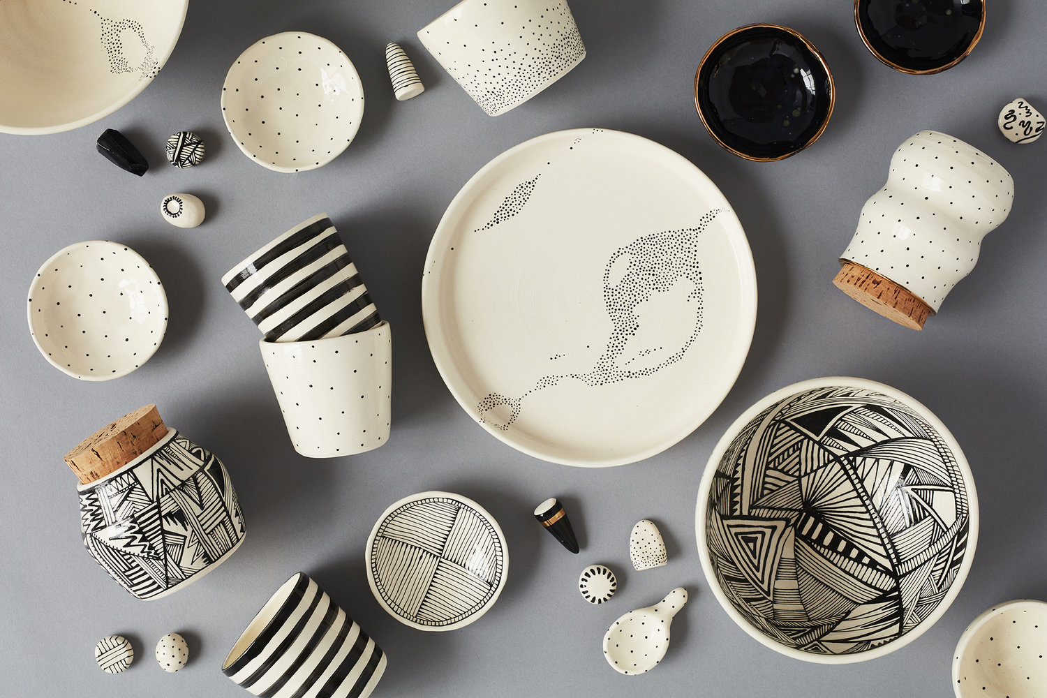 Black and White Ceramics by We Shop Amano | Fair Antia