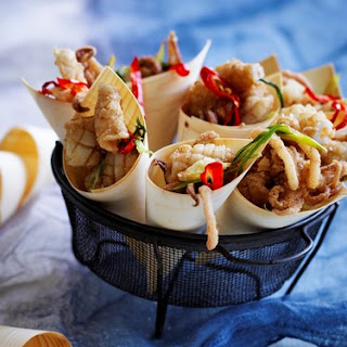 Five Spice Squid With Lime Mayonnaise.
