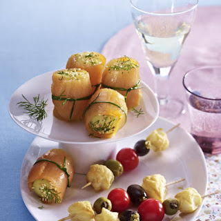 Potato Sushi and Olive Skewer Hors D'Oeuvres Recipe
