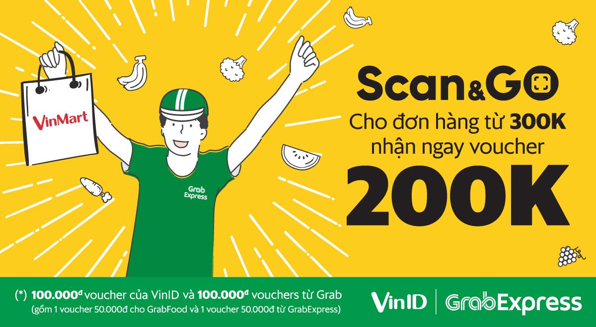 GRAB Express bắt tay VinMart với dịch vụ Scan&Go 3