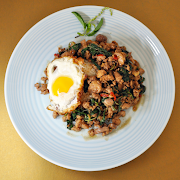 Pad Ga Pow with Chicken and Fried Egg (ผัดกระเพาไก่ + ไข่ดาว)
