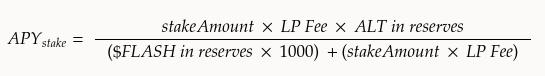 APY stake formula