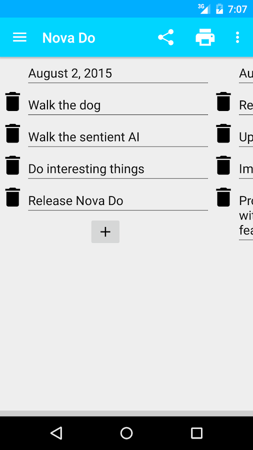 Nova Do - simple todo list- screenshot