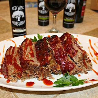 Sriracha BBQ Glazed Meatloaf
