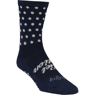 All-City Get Action Wool Sock: Blue/Oatmeal