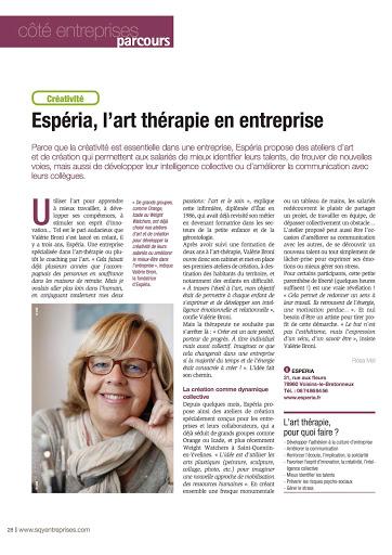 Article espéra Art et Développement