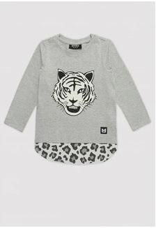 Minikid LS Top Grey Tiger