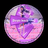 Purple beach GO Keyboard