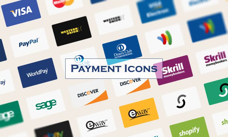 Shopify payment icons