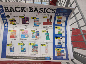 Photo: I studied the circular many times in the store to see what was on sale. Great deals on this page but unfortunately I just didn't need any of these items.