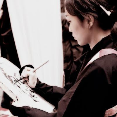 Pittrice giapponese di faza