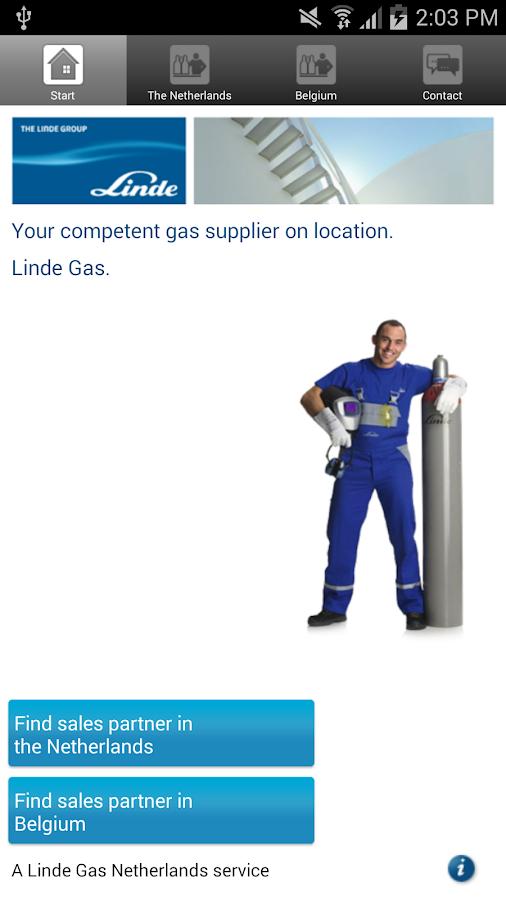 Linde Gas Benelux- screenshot