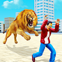 Angry Lion City Attack: Wild Animal Games 2020 icon