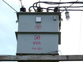Photo: New transformer, the previous one blew up