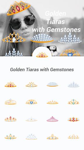 Golden Tiaras with Gemstones