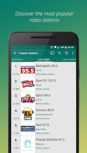 VRadio - Online Radio Player  screenshots 4