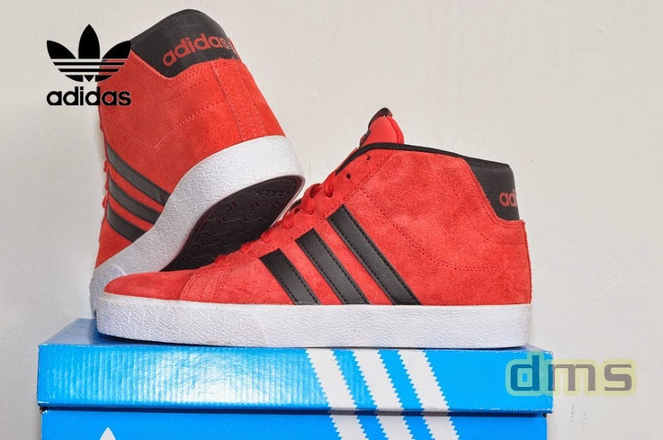 newest collection c1a4c dd1fc Adidas Neo Campus High Red - Black ...