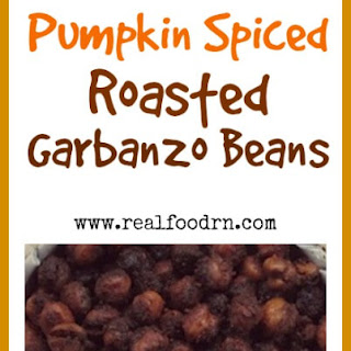 Salty, Sweet, and Crunchy Pumpkin Spiced Roasted Garbanzo Beans