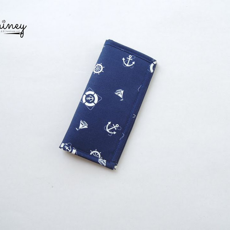 Handmade Long Wallet (Anchors) by Shiney Craft & Zakka 诗绫手作