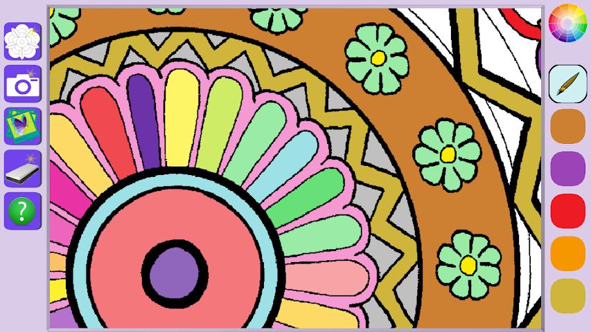 android De Stress Mandala Painting Screenshot 0