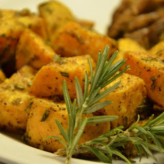 Rosemary Cardamom Roasted Sweet Potatoes