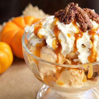 Pumpkin Pie Ice Cream Sundae