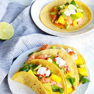 Thai Salmon Tacos with Mango-Avocado Salsa