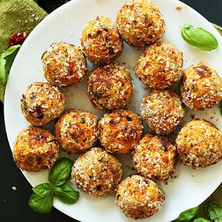 Vegan Sun-dried Tomato & Basil Meatballs