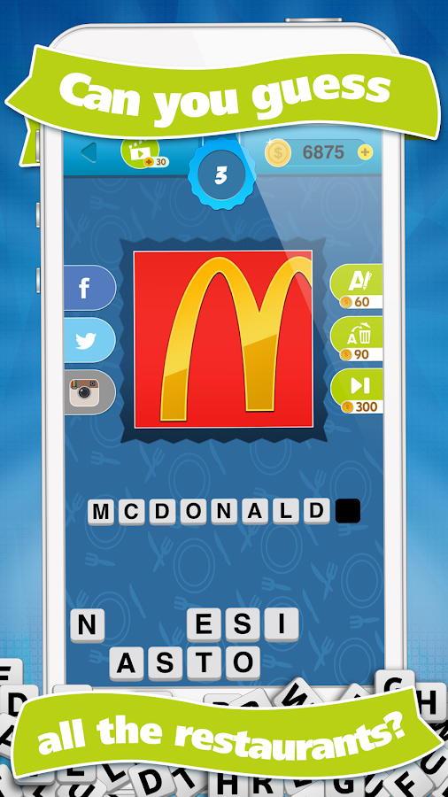What's the Restaurant? Guess Restaurants Quiz Game- screenshot