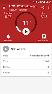 Abs workout A6W- screenshot thumbnail