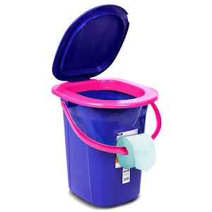 Toaleta portabila turistica camping GreenBlue, GB320BL R, 19 litri