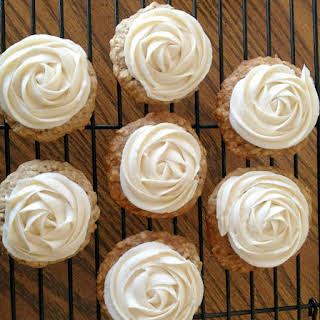 Buttermilk Oatmeal Cookies with Browned Buttercream Icing.