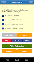 Screenshot of DT4A PCV Theory Test