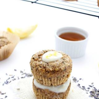 Lemon Lavender Muffins with Honey Yogurt Glaze