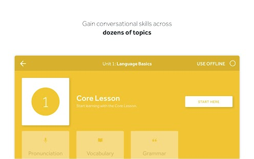 Rosetta Stone: Learn Languages Screenshot