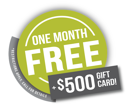 One Month Free + $500 Gift Card