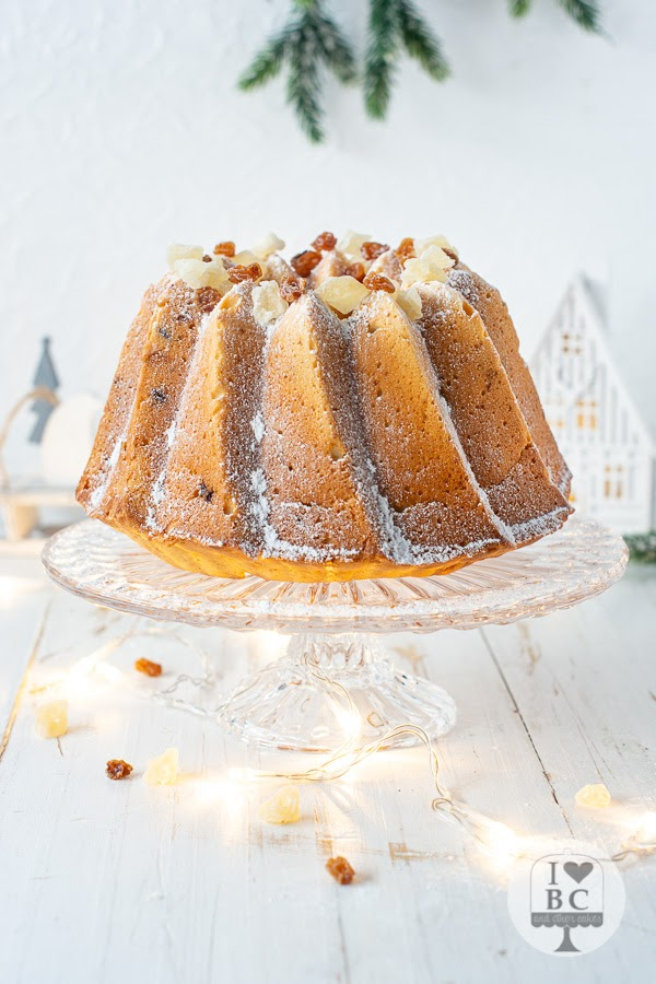 Dried Fruit and Pecan Bundt Cake #Bundtbakers