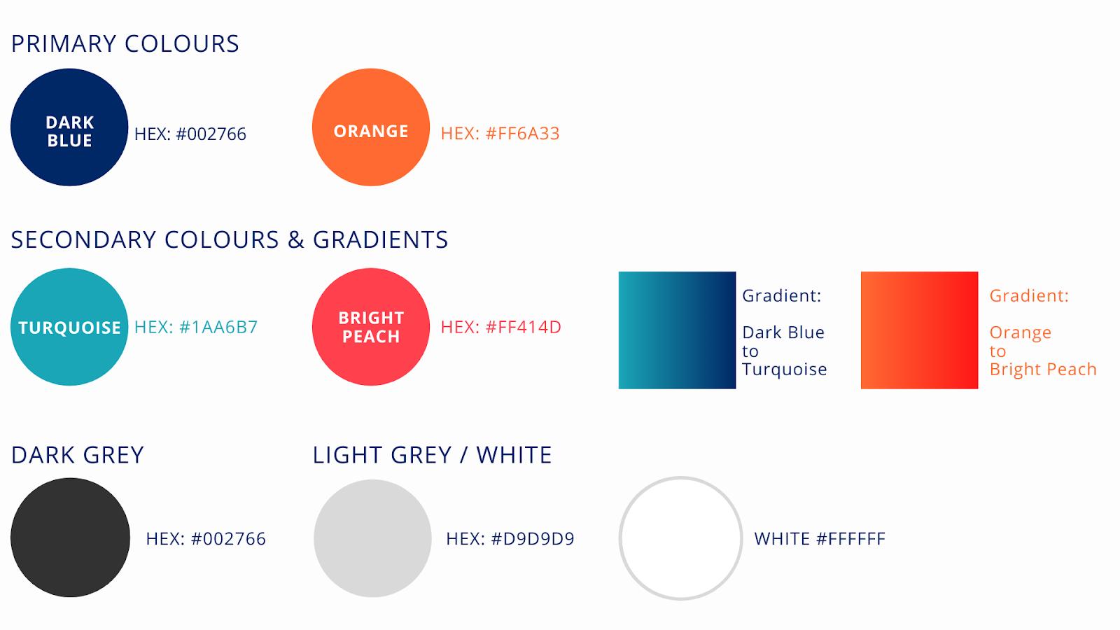 TDA colour Palette