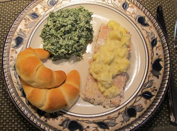 Pacific Poached Salmon With Nanny's Egg Sauce