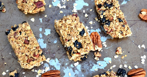 Blueberry Coconut and Maple Granola Bars