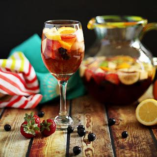 Non-Alcoholic Sangria Mocktail.