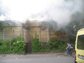 Photo: Sichtbare Flammenzungen - Rauchgase kurz vor der Durchzündung