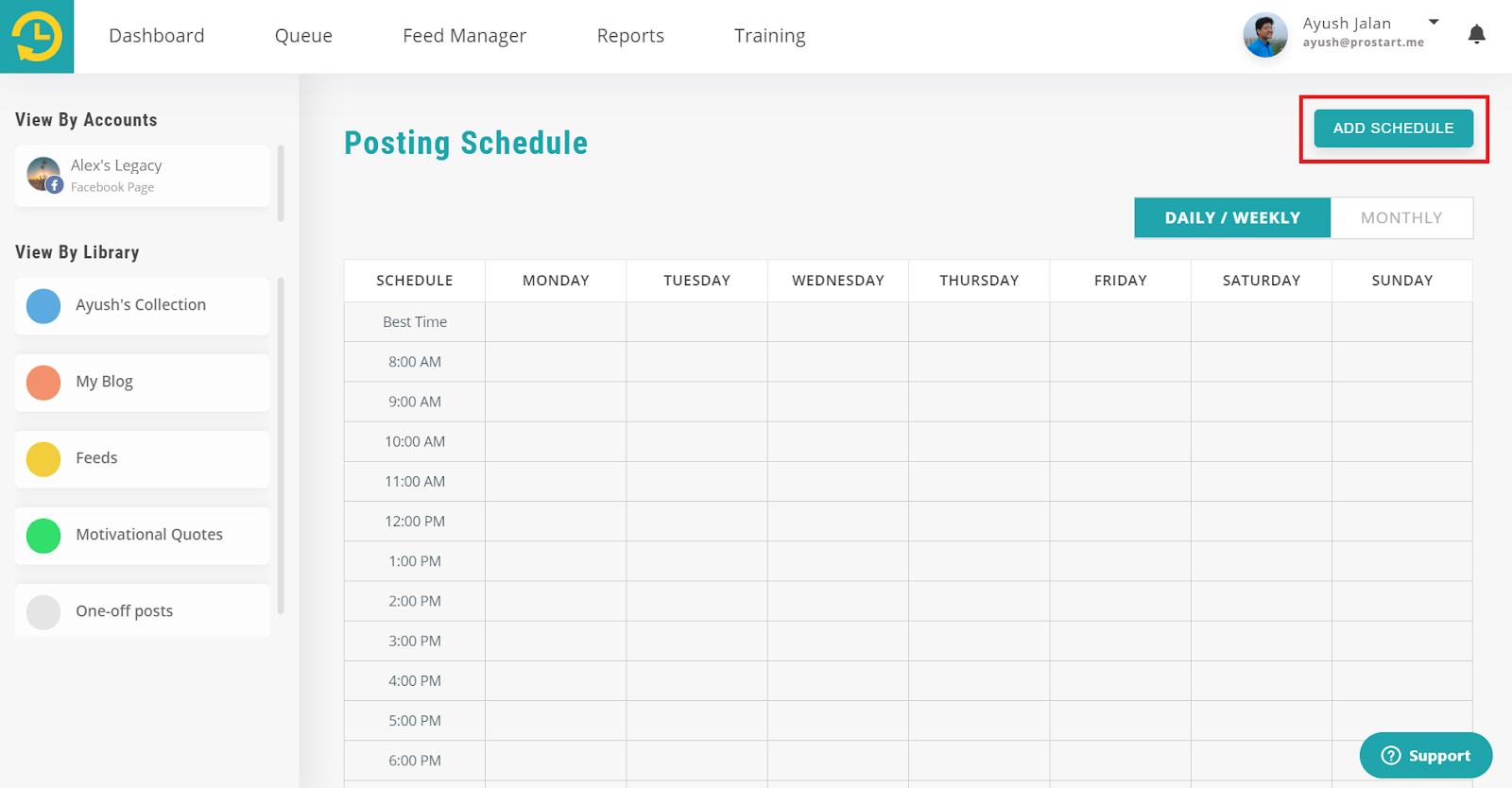 add schedule