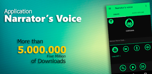 narrator s voice apps on google play